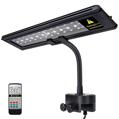 IREENUO LED Aquarium Beleuchtung, Aquarium Klemmleuchte mit Fernbedienung, Aquariumlampe für Reef Coral...