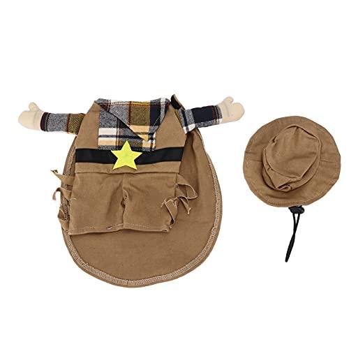 zHONgRT Haustierkostüm Anzug Haustier Weihnachtskostüm Polyester Western Cowboy Hundekostüm für...