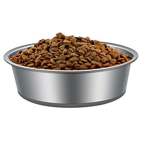 Hundenapf Edelstahl, VIKEDI Hunde Fressnapf mit Rutschfester Gummibasis, Edelstahlnapf Napf Set für...