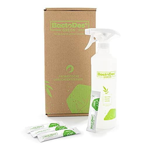 BactoDes Green Animal Granulat Sticks, Geruchsentferner Geruchskiller Lufterfrischer Reiniger, Set mit 4...
