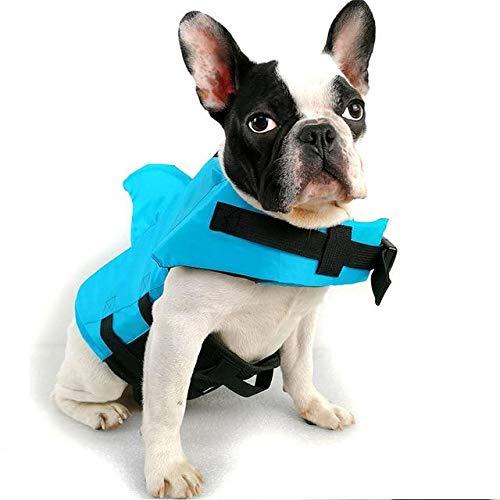 Terraberk Hund Schwimmweste Sommer Hai Haustier Schwimmweste Hund Kleidung Hunde - Pack: blau/s 6-8kg