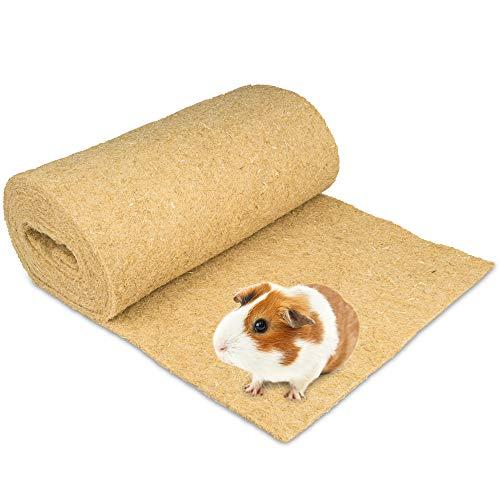 Nagerteppich aus 100% Hanf auf Rolle mit 5m Länge, 60cm Breite, 10mm dick,Hanfteppich für alle Arten...