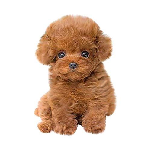 ZLOP Spielzeug Hund Simulation Spielzeug Hund realistisch und niedlichen Teddy Realistic Teddy Dog Lucky,...