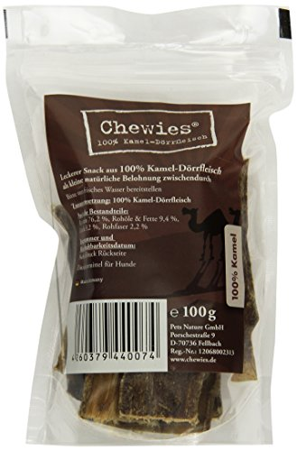 Chewies Kamel Dörrfleisch - 100 g - Natürlicher Kausnack für Hunde - Hypoallergen & ohne Zusatzstoffe...