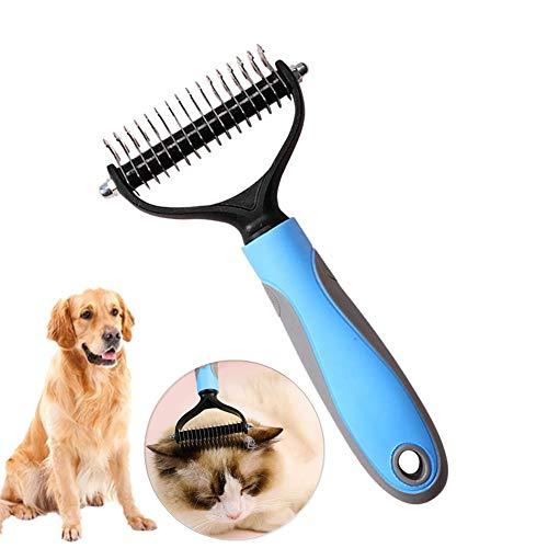 TUANTALL Pet BüRste Flohkamm FüR Katzen Back Combing Brushes Hundemassage Pinsel Anti-Knoten-Pflegekamm...