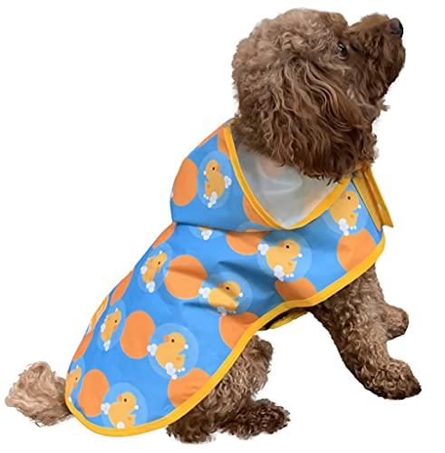 Pooch & Paws Hunde-Regenmantel mit Kapuze, reflektierend, wasserdicht, verstellbar, für kleine,...