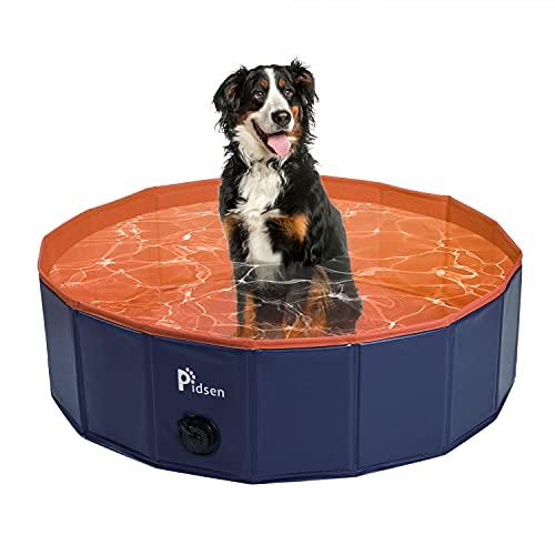 Pidsen Hundepool fur Große Hunde Swimmingpool PVC tragbare Faltbare Hunde Katzen Bad Wanne Badewanne...