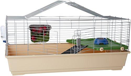 Amazon Basics – Kleintier-Käfig mit Zubehör, 124 x 68 x 52cm, Jumbo