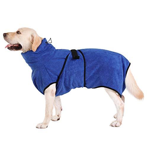 Hunde-Bademantel Mikrofaser Hundehandtuch Schnell Trocknend mikrofaser Handtuch Super Saugfähig...