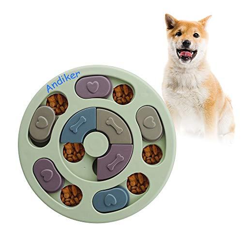 Andiker Rundes Hundespielzeug, Puzzle-Spielzeug, langlebig, interaktives Hundespielzeug,...