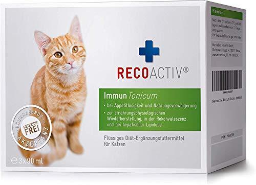 RECOACTIV® Immun Tonicum für Katzen, 3 x 90 ml, zur Vorbeugung und Immunstärkung der Katze,...