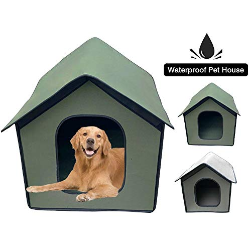 N/L Kitty House Cat Shelter, tragbare Faltbare beheizte Katzenhäuser für Katzen im Freien Katzenbett...
