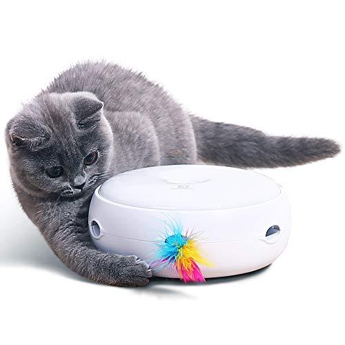 PETTOM Katzenspielzeug Elektrisch Spielzeug mit Feder interaktives Spielzeug für Katzen, Automatisch...