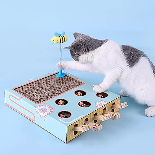 croselyu Kratzbrett aus Wellpappe für Katzen, Hamster, Katzenspielzeug, interaktives Spielzeug für...