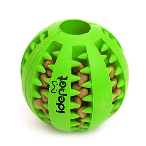 Idepet Hund Spielzeug Ball, ungiftig Bite resistent Spielzeug Ball für Hunde Welpen, Hundefutter Treat...