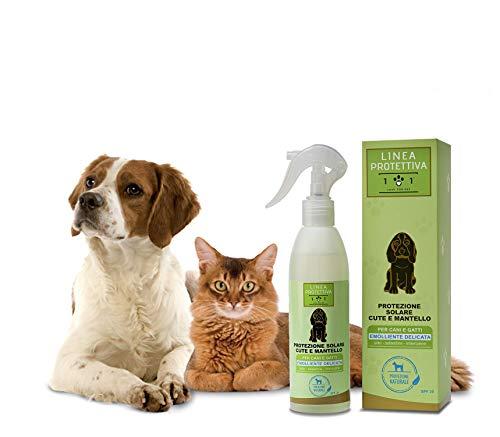 Natürlicher Sonnenschutz Spray für Hunde und Katzen, 250ml - Schützt vor Sonnenstrahlen und Sonne -...
