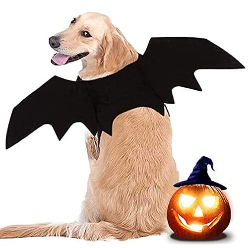 LIBRNTY Halloween Hund Kostüm, Haustier Fledermaus Kostüm Niedlich Halloween Kostüm für Haustiere...