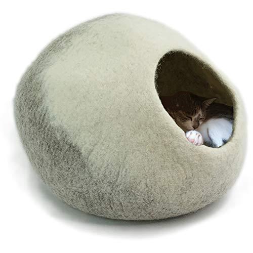 8-Natur® Tüv getestete Katzenhöhle Filz 100% Wolle fair, ökologisch und schadstoffgeprüft |...