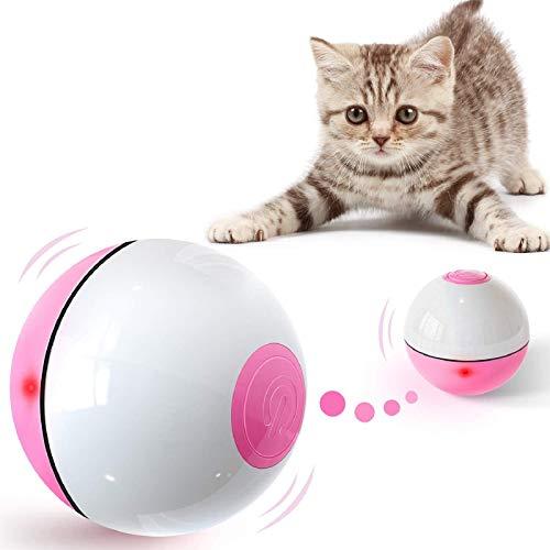 Iokheira Katzenball mit LED-Licht, Elektrisch Zwei-Farben Katzenspielzeug Ball interaktives Spielzeug...