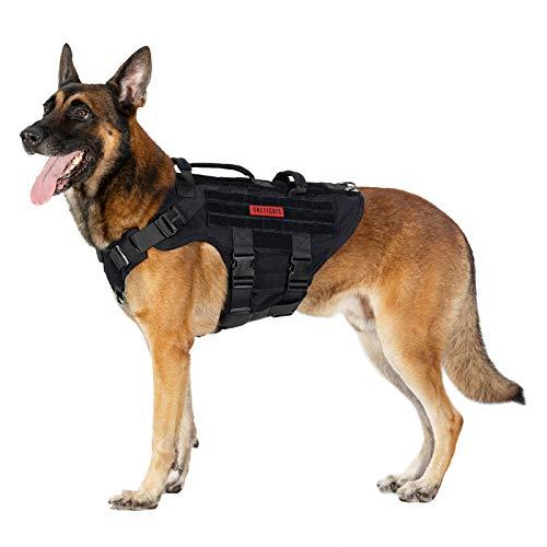 OneTigris K9 Hundegeschirr X DESTROYER taktisches Hundegeschirr 3 Griffe Heavy Duty Hundeweste mit...