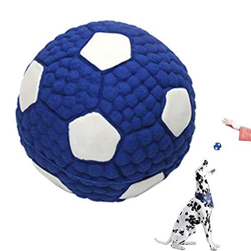 Quietschendes Hundespielzeug aus Latex,Premium Hundeball aus Naturkautschuk - Spielzeug zum Spielen und...