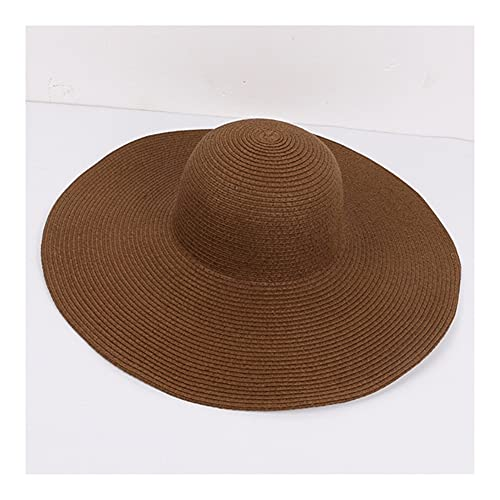 Without Mode große große breite randhut solide einfache Family Strand Sonnenhut Packable Sommer hüte...