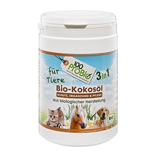 100ProBio Kokosöl für Tiere - rein natürlich - ohne Chemie | für Hunde, Katzen & Pferde | für das...