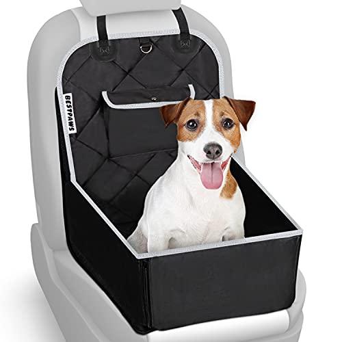BESTPAWS Hunde Autositz für kleine & mittlere Hunde - Autositz Hund für Rückbank & Beifahrersitz -...