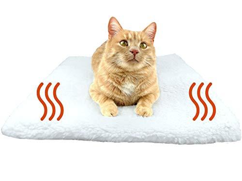 PurrCave® Selbstheizende Decke für Katzen u. Hunde mit Anti-Rutsch Gummi-Noppen | Besonders Kuschelige...
