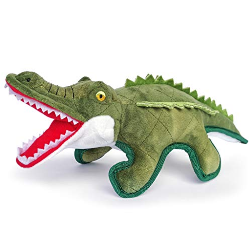 Aquatic Human Quietschendes Hundespielzeug, Krokodil/Papagei/Eidechse/Wildgans/Chamäleon/Stockform,...