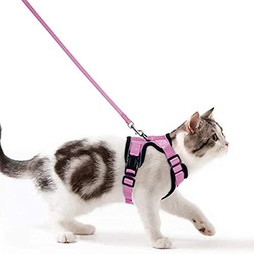 Wdmiya Katzengeschirr Geschirr für Katzen | ausbruchsicher Katzenleine Leine Set | Kitten verstellbar...