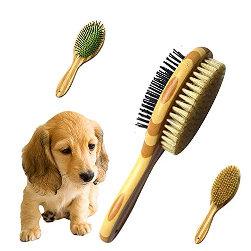 Hundebürste, Katzenbürste, Haustier Bürsten, Haar Entferner Haustierbürste für Langhaar und...