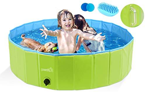 Pecute Hundepool Schwimmbad Für Hunde und Katzen(120 * 30 cm),Swimmingpool Hund Planschbecken...