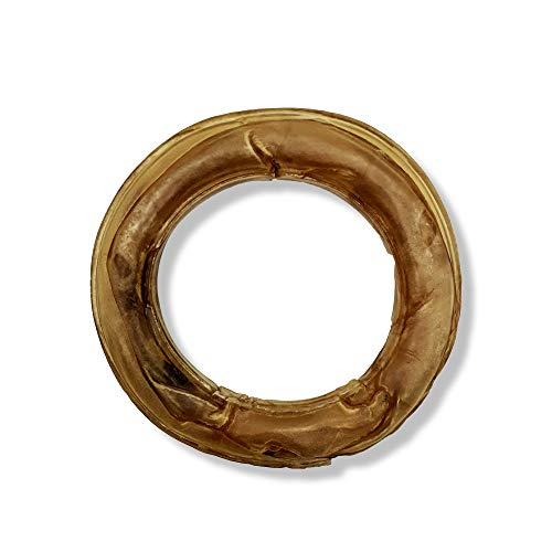 Gepresster Ring aus Rohleder für Hunde – leckere Leckereien – fettarm – reich an Protein –...