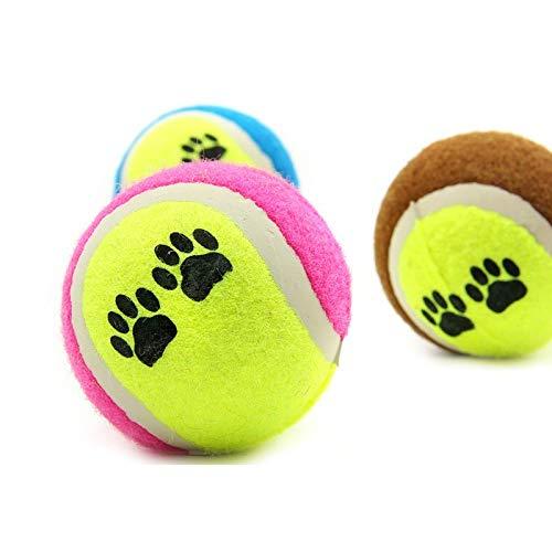 Haustier Spielzeug Ball Werfen Tennisball Fußabdruck Muster Hund Wurf Spielzeug Hund Training Ball