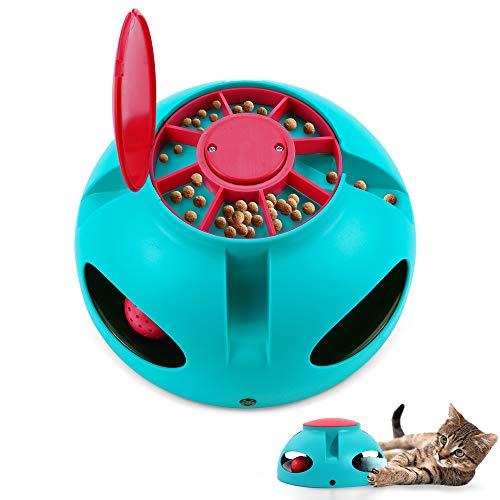 V-HANVER Interaktives Katzen Spielzeug, Uunregelmäßiges Automatisch Selbstdrehender, Draußen...