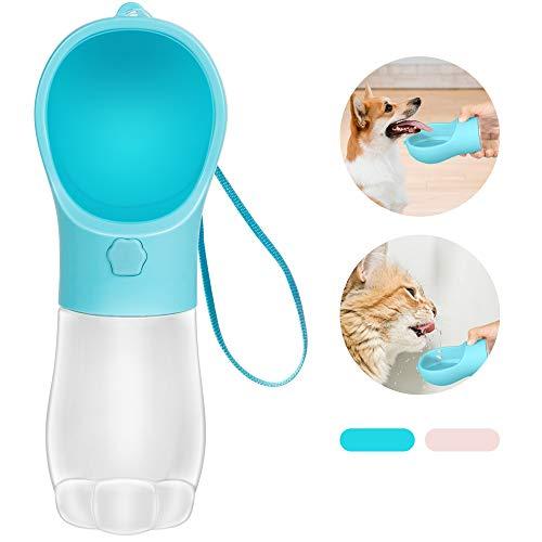 MAEXUS Hundetrinkflasche für Unterwegs Hunde Wasserflasche Hundeflasche Katzen Trinkflasche Reise...