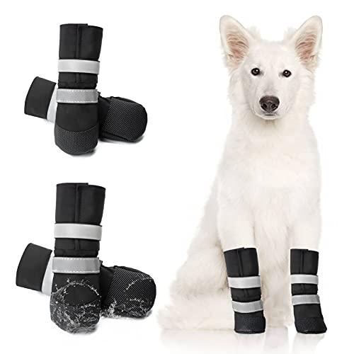 OHCOZZY wasserdichte Hundeschuhe, Pfotenschutz, Anti-Rutsch-Hundeschuhe mit Verstellbarem,...