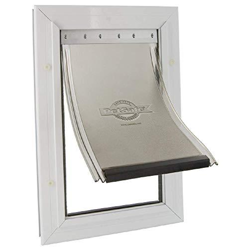 PetSafe Aluminium Hundeklappe, Magnet Verschluss begrenzt Zugluft, Haustierklappe, Aluminium Rahmen,...
