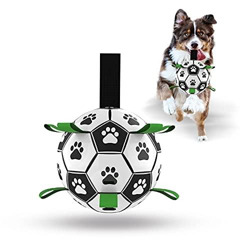 Hundespielzeug-Ball, interaktiver Fußball für Hunde mit Greiflaschen, langlebiger Wasserball für...