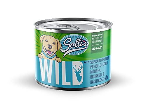 Sollis - Hundefutter Nass - 6er-Pack | Ohne Getreide | Hoher Fleischanteil | Ohne Zucker | Getreidefreies...