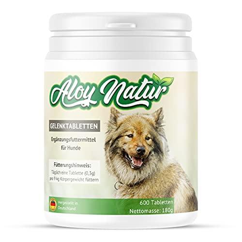 ALOY NATUR® Gelenktabletten für Hunde - 600 Tabletten reichen bis zu 20 Monate - mit hohem...