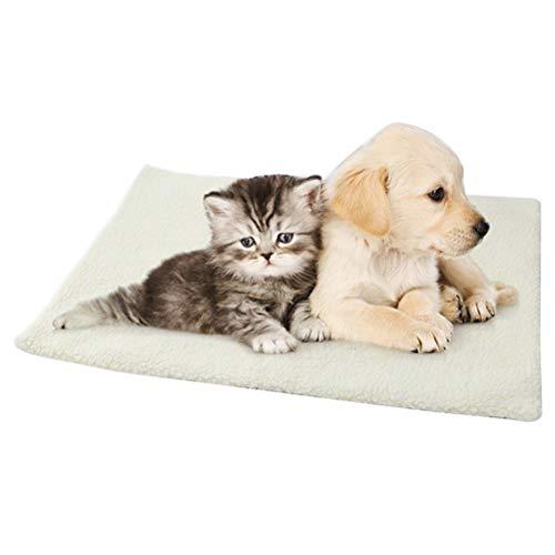 ZIXIXI Selbstheizende Snooze Pad Haustierbettmatte für Haustiere Katzen, selbstheizende Haustierdecke...
