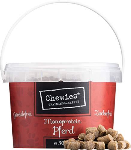 Chewies Trainingshappen Pferd - Monoprotein Snack für Hunde - 300 g - getreidefrei & zuckerfrei - Softe...