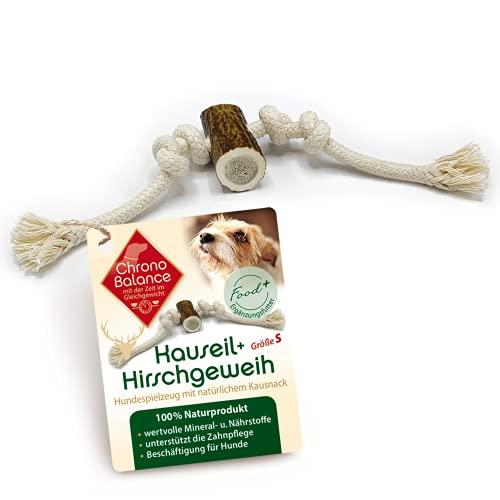 ChronoBalance® Kauseil mit Geweih für Hunde als Spielzeug und Kauartikel, 100% Hirschgeweih und...