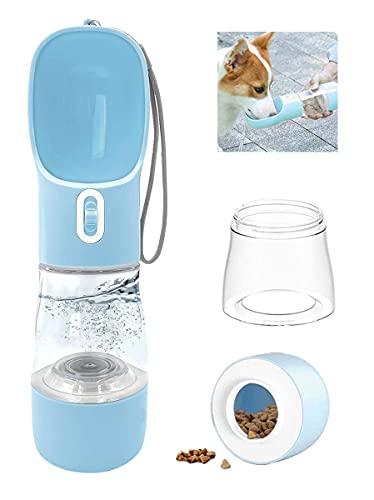 RoserRose Hund Wasserflasche, 458ml Hundetrinkflasche für Unterwegs, Trinkflasche Hunde für Unterwegs,...