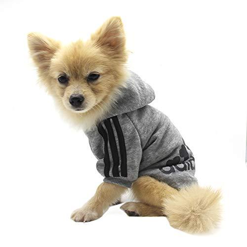 QiCheng&LYS Hundemantel Adidog Hund Hoodies Kleidung, Pet Puppy Katze Niedlicher Baumwoll Warm Hoodies...