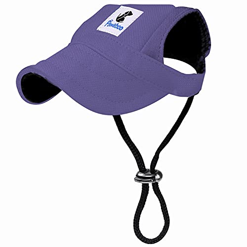 Pawaboo Hunde Baseball Cap Mütze Basecap Baseballmütze Hut Hundecap mit Ohrlöchern für Welpen...