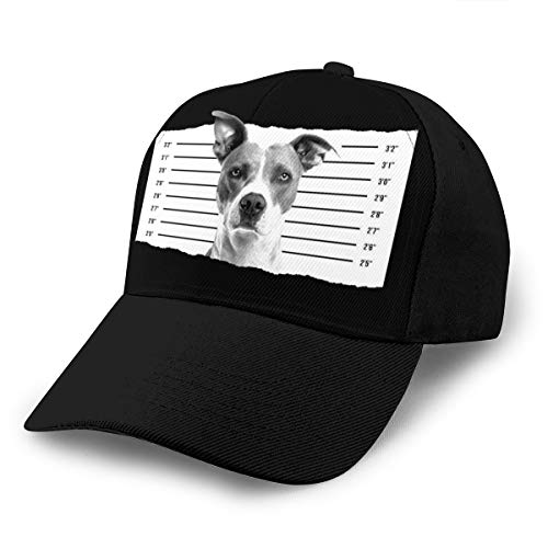 Hongyan Baseballkappe Hund Mugshot Dad Hat Verstellbar Atmungsaktiv für Männer Frauen Snapback Trucker...