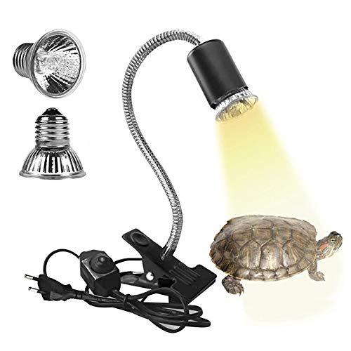 Eilinco Wärmelampe Schildkröte, 25W+50W Reptilien Heizlampe, E27 UVA+UVB Terrarium Waermelampe für...